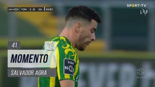 CD Tondela, Jogada, Salvador Agra aos 41'