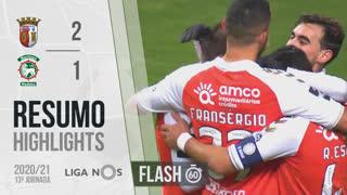 Liga NOS (13ªJ): Resumo Flash SC Braga 2-1 Marítimo M.