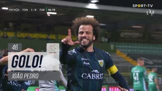 GOLO! CD Tondela, João Pedro aos 46', CD Tondela 1-0 SC Farense