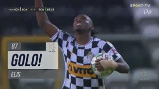 GOLO! Boavista FC, Elis aos 87', Boavista FC 1-1 CD Tondela