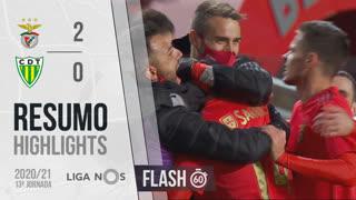 Liga NOS (13ªJ): Resumo Flash SL Benfica 2-0 CD Tondela