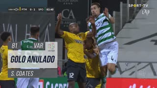 Sporting CP, Golo Anulado, S. Coates aos 81'
