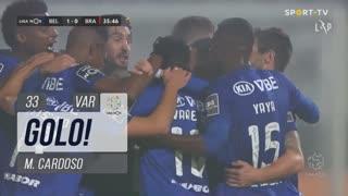 GOLO! Belenenses SAD, M. Cardoso aos 33', Belenenses SAD 1-0 SC Braga