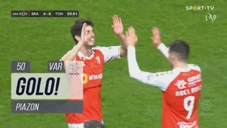 GOLO! SC Braga, Piazon aos 50', SC Braga 4-0 CD Tondela