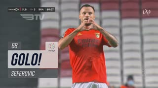 GOLO! SL Benfica, Seferovic aos 68', SL Benfica 1-3 SC Braga