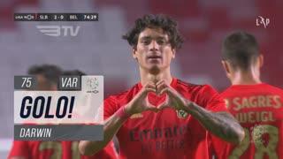 GOLO! SL Benfica, Darwin aos 75', SL Benfica 2-0 Belenenses SAD
