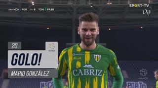 GOLO! CD Tondela, Mario González aos 20', FC Porto 1-1 CD Tondela