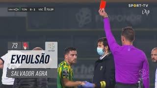 CD Tondela, Expulsão, Salvador Agra aos 73'
