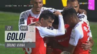 GOLO! SC Braga, Bruno Viana aos 22', CD Tondela 0-1 SC Braga