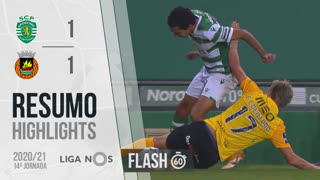 Liga NOS (14ªJ): Resumo Flash Sporting CP 1-1 Rio Ave FC