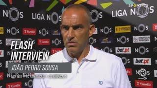 """João Pedro Sousa: """"Estou contente com a minha equipa"""""""