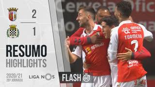 I Liga (28ªJ): Resumo Flash SC Braga 2-1 Boavista FC