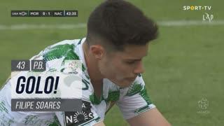 GOLO! CD Nacional, Filipe Soares (p.b.) aos 43', Moreirense FC 0-1 CD Nacional