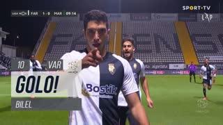 GOLO! SC Farense, Bilel aos 10', SC Farense 1-0 Marítimo M.