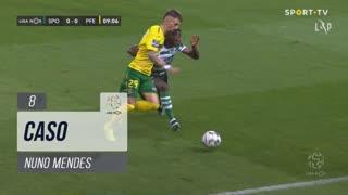 Sporting CP, Caso, Nuno Mendes aos 8'