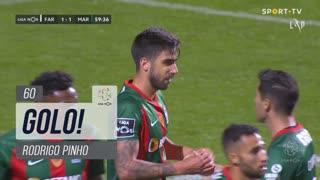 GOLO! Marítimo M., Rodrigo Pinho aos 60', SC Farense 1-1 Marítimo M.