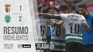 I Liga (2ªJ): Resumo Flash SC Braga 1-2 Sporting CP
