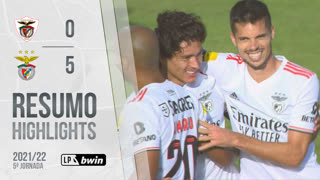 Liga Portugal bwin (5ªJ): Resumo Santa Clara 0-5 SL Benfica
