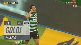 GOLO! Sporting CP, Paulinho aos 74', Sporting CP 3-0 FC Vizela
