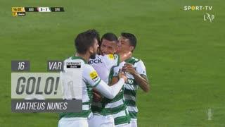 GOLO! Sporting CP, Matheus Nunes aos 16', FC Arouca 0-1 Sporting CP