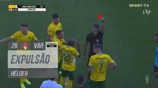 FC P.Ferreira, Expulsão, Hélder aos 28'