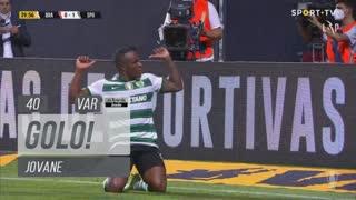GOLO! Sporting CP, Jovane aos 40', SC Braga 0-1 Sporting CP