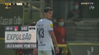 FC Famalicão, Expulsão, Alexandre Penetra aos 45'+4'