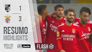Liga Portugal bwin (7ªJ): Resumo Flash Vitória SC 1-3 SL Benfica