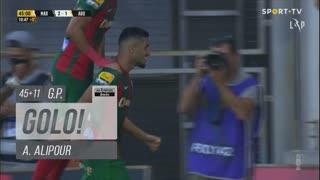 GOLO! Marítimo M., A. Alipour aos 45'+11', Marítimo M. 2-1 FC Arouca
