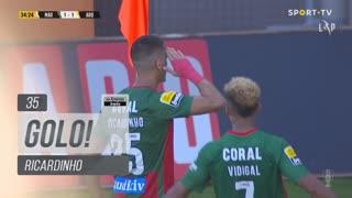 GOLO! Marítimo M., Ricardinho aos 35', Marítimo M. 1-1 FC Arouca