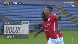 GOLO! Santa Clara, Lincoln aos 90'+5', Santa Clara 1-1 SC Braga