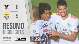 Liga Portugal bwin (5ªJ): Resumo Flash Santa Clara 0-5 SL Benfica