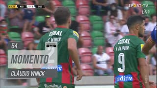 Marítimo M., Jogada, Cláudio Winck aos 64'
