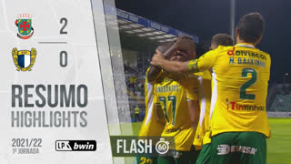 I Liga (1ªJ): Resumo Flash FC P.Ferreira 2-0 FC Famalicão