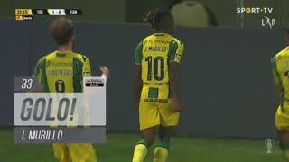 GOLO! CD Tondela, J. Murillo aos 33', CD Tondela 1-0 FC Famalicão