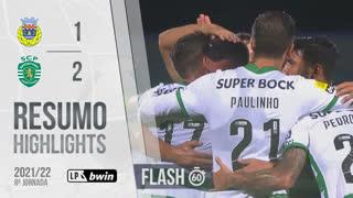 Liga Portugal bwin (8ªJ): Resumo Flash FC Arouca 1-2 Sporting CP