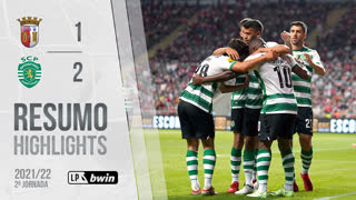 Liga Portugal bwin (2ªJ): Resumo SC Braga 1-2 Sporting CP