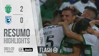 I Liga (3ªJ): Resumo Flash Sporting CP 2-0 Belenenses SAD
