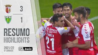 Liga Portugal bwin (6ªJ): Resumo SC Braga 3-1 CD Tondela