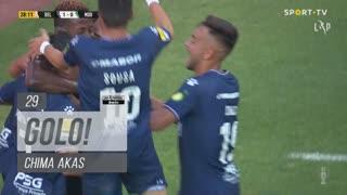 GOLO! Belenenses SAD, Chima Akas aos 29', Belenenses SAD 1-0 Moreirense FC