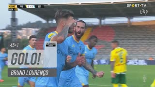 GOLO! Estoril Praia, Bruno Lourenço aos 45'+1', FC P.Ferreira 1-1 Estoril Praia