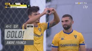 GOLO! Estoril Praia, André Franco aos 45'+2', Estoril Praia 2-1 Gil Vicente FC