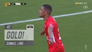 GOLO! Gil Vicente FC, Samuel Lino aos 42', Estoril Praia 1-1 Gil Vicente FC