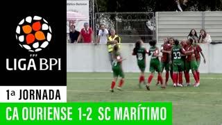 Liga BPI (1ª Jornada): Resumo Ouriense 1-2 Marítimo M.