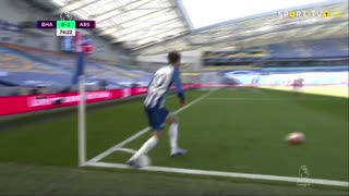 GOLO! Brighton, L. Dunk aos 75', Brighton 1-1 Arsenal