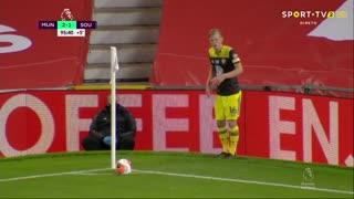 GOLO! Southampton, M. Obafemi aos 90'+6', Man. United 2-2 Southampton