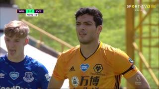 GOLO! Wolverhampton, R. Jiménez aos 47', Wolverhampton 1-0 Everton