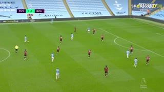 GOLO! Man. City, Gabriel Jesus aos 39', Man. City 2-0 Bournemouth