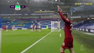 GOLO! Liverpool, Mohamed Salah aos 76', Brighton 1-3 Liverpool