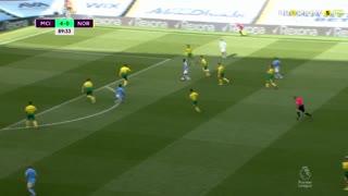 GOLO! Man. City, K. De Bruyne aos 90', Man. City 5-0 Norwich